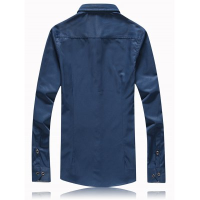 Splicing Turn-Down Collar Button Plus Size ShirtPlus Size Tops<br>Splicing Turn-Down Collar Button Plus Size Shirt<br><br>Shirts Type: Casual Shirts<br>Material: Cotton Blends<br>Sleeve Length: Full<br>Collar: Turn-down Collar<br>Weight: 0.350kg<br>Package Contents: 1 x Shirt