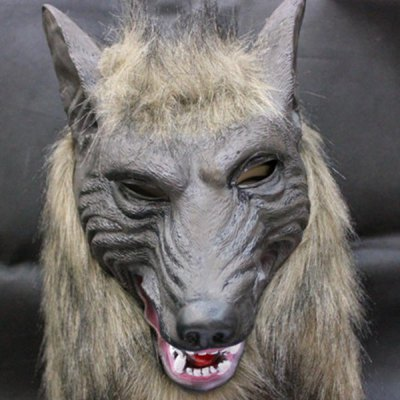 Halloween Cosplay Scary Wolf Head Mask Prop