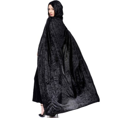 Halloween Cosplay Party Witch Hooded Cloak Costume