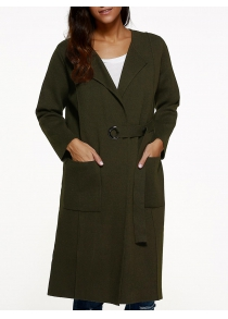 Knee Length Coat with Pockets