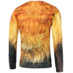 best Lion Print Crew Neck Sweatshirt