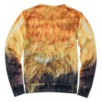 cheap Lion Print Crew Neck Sweatshirt