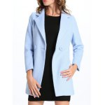 Slim Fit One-Button Lapel Coat