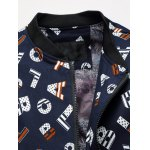 cheap Fashion 3D Letter Jacket Stand Collar Zip-up Design