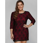 Laciness Hidden Zipped Plus Size Dress deal