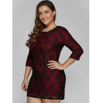 Laciness Hidden Zipped Plus Size Dress for sale