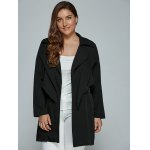 Overlay Tied Plus Size Trench Coat deal