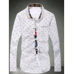 Spot Water Drop Printed Plus Size Shirt