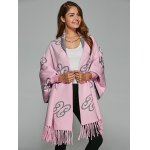 Auspicious Clouds Jacquard Fringed Cape Cardigan deal
