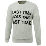 Letters Printed Design Round Neck Long Sleeve Sweatshirt