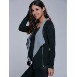 Two Tone Asymmetrical Zip Jacket deal