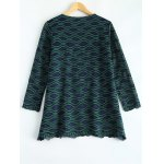 cheap Long Sleeve Wave Pattern Blouse