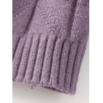 best High Neck Cable Knit Fitted Sweater Dress