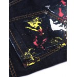 Paint Splatter Zipper Fly Jeans for sale