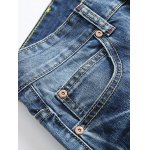Zipper Fly Straight Leg Distressed Jeans deal