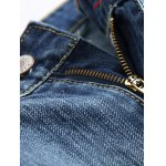 Zipper Fly Straight Leg Distressed Jeans for sale