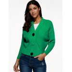 cheap Batwing Sleeve Buttoned Cardigan