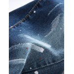 Paint Splatter Straight Leg Jeans photo
