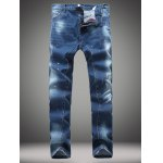 Paint Splatter Straight Leg Jeans