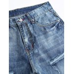 Straight Leg Zip-Fly Distressed Jeans deal