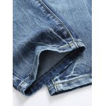 best Straight Leg Zip-Fly Distressed Jeans