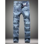 Buy Straight Leg Zip-Fly Distressed Jeans 28