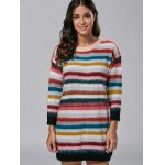 best Rainbow Stripe Sweater Dress