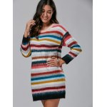 Rainbow Stripe Sweater Dress photo