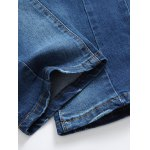 Zip-Fly Straight Leg Frayed Jeans for sale