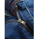 Zip-Fly Straight Leg Frayed Jeans deal