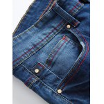 cheap Zip-Fly Straight Leg Frayed Jeans