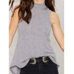 Lace Up Back High Collar Sleeveless Sweater deal
