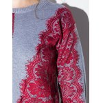 Lace Applique Pullover Sweater deal
