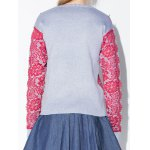 cheap Lace Applique Pullover Sweater