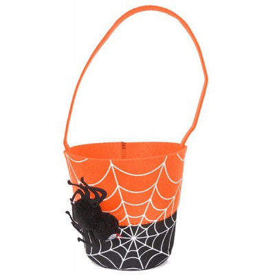 Color Block Spider Halloween Tote Bag