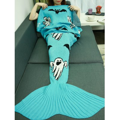 Halloween Mermaid Tail Style Blanket
