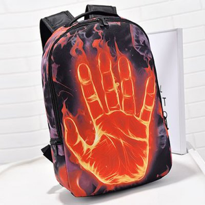 Zipper Hand Print Color Splicing BackpackMens Bags<br>Zipper Hand Print Color Splicing Backpack<br><br>Backpack Usage: Daily Backpack<br>Backpacks Type: Softback<br>Closure Type: Zipper<br>Pattern Type: Print<br>Main Material: Canvas<br>Gender: For Men<br>Weight: 1.200kg<br>Package Contents: 1 x Backpack<br>Length: 27CM<br>Width: 13CM<br>Height: 43CM