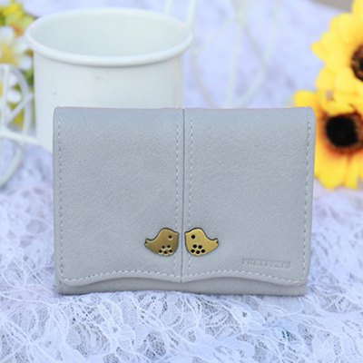 Bird PU Leather Small Wallet