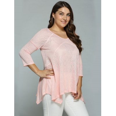 Plus Size Heather Side Slit Asymmetrical BlousePlus Size Tops<br>Plus Size Heather Side Slit Asymmetrical Blouse<br><br>Material: Polyester<br>Clothing Length: Long<br>Sleeve Length: Three Quarter<br>Collar: Scoop Neck<br>Style: Casual<br>Season: Spring,Summer<br>Pattern Type: Solid<br>Weight: 0.380kg<br>Package Contents: 1 x Blouse