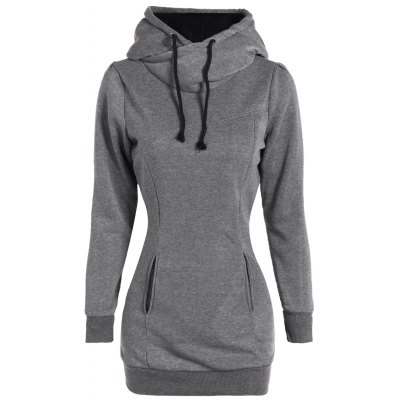 Pockets Design Pullover Hoodie