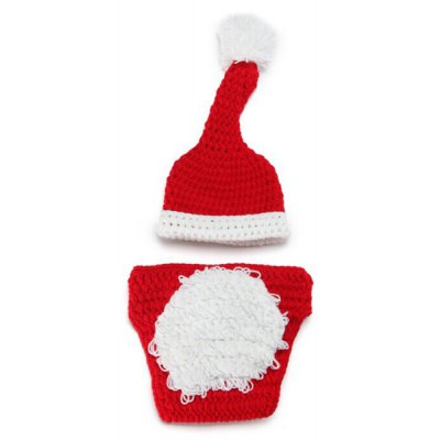 Handmade Baby Christmas Santa Photography Costume Set