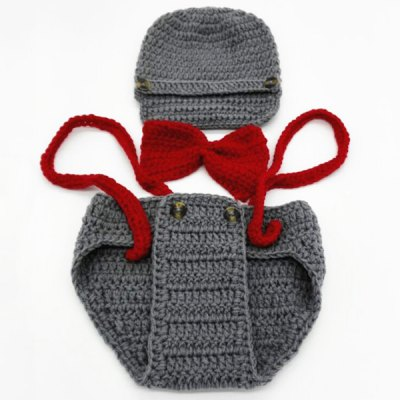 Yarn Knitted Pilot Baby Photography Prop Costume Set