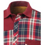 Tartan Spliced Design Turn-Down Collar Fleece Shirt deal