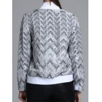 best Jacquard Geometric Zip-Up Jacket