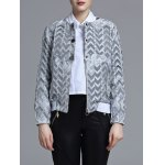 Jacquard Geometric Zip-Up Jacket