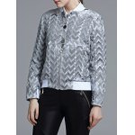 Jacquard Geometric Zip-Up Jacket deal