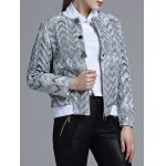 Jacquard Geometric Zip-Up Jacket for sale