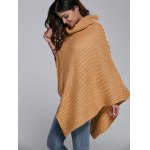 Batwing Sleeve Turtle Neck Cape Sweater for sale