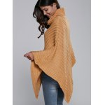 best Batwing Sleeve Turtle Neck Cape Sweater