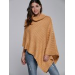 Batwing Sleeve Turtle Neck Cape Sweater deal